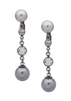 Lauren Ralph Lauren Faux Pearl & Crystal Drop Earrings