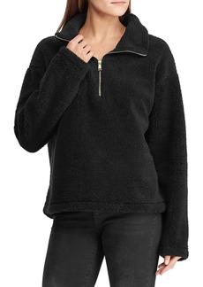 Lauren Ralph Lauren Faux Shearling Half-Zip Pullover