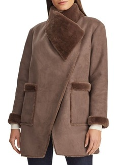 Lauren Ralph Lauren Faux Shearling-Trim Coat