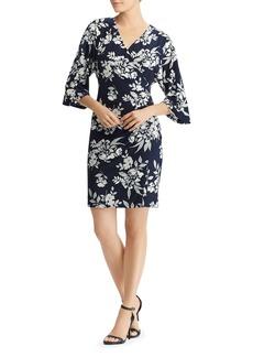 Lauren Ralph Lauren Faux-Wrap Floral Dress