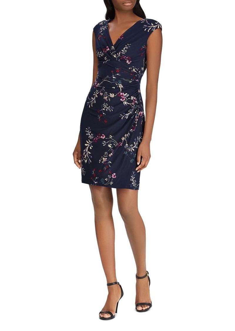Lauren Ralph Lauren Faux-Wrap Floral Jersey Dress