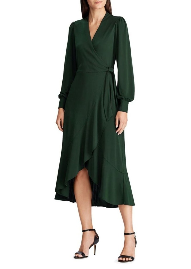 Lauren Ralph Lauren Faux Wrap Midi Dress