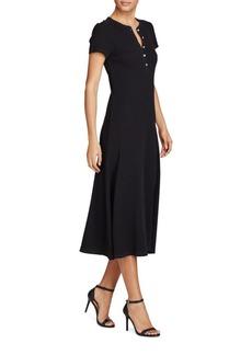Lauren Ralph Lauren Fit-and-Flare Cotton Henley Dress