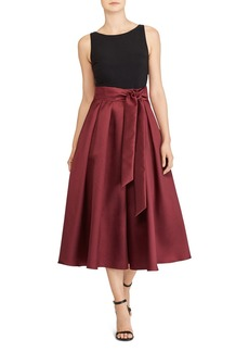 Lauren Ralph Lauren Fit-and-Flare Midi Dress