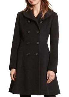 Lauren Ralph Lauren Fit-and-Flare Military Coat