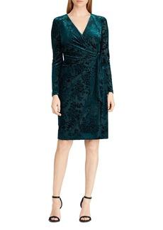 Lauren Ralph Lauren Flocked Velvet Dress