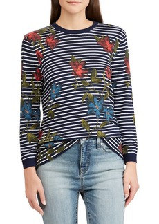Lauren Ralph Lauren Floral & Striped Top