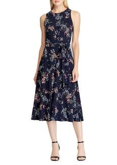 Lauren Ralph Lauren Floral A-Line Jersey Dress