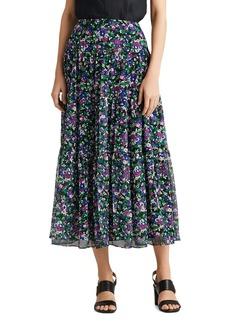 Lauren Ralph Lauren Floral A-Line Midi Skirt