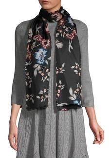 Lauren Ralph Lauren Floral Art Oblong Silk Scarf