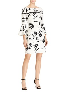 Lauren Ralph Lauren Floral Bell-Sleeve Dress