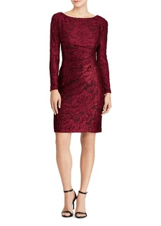 Lauren Ralph Lauren Floral Burnout Velvet Dress