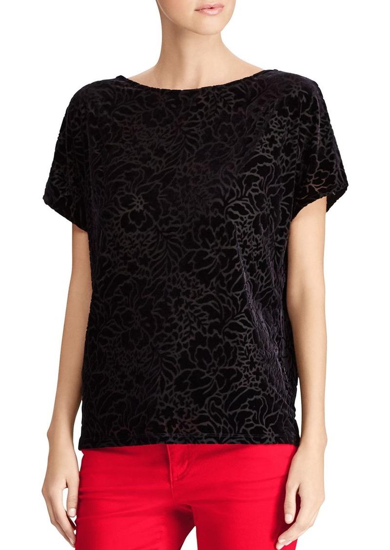 d6ff486f334 SALE! Ralph Lauren Lauren Ralph Lauren Floral Burnout Velvet Top