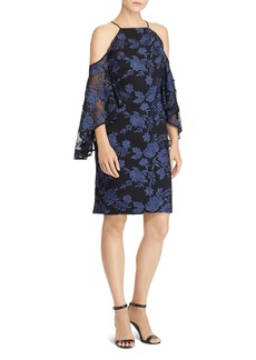 Lauren Ralph Lauren Floral Cold-Shoulder Dress