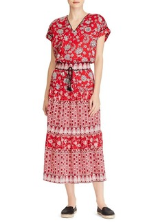 Lauren Ralph Lauren Floral Cotton Blouson Dress