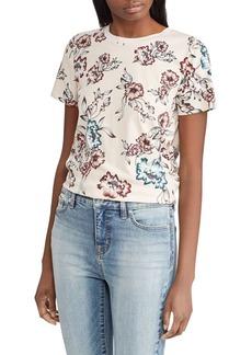 Lauren Ralph Lauren Floral Cotton Jersey Tee