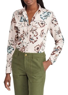 Lauren Ralph Lauren Floral Cotton Sateen Button-Down Shirt