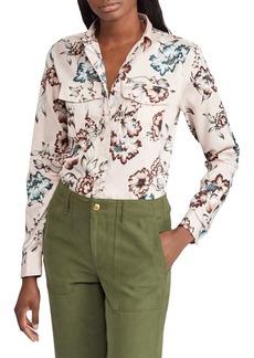 Lauren Ralph Lauren Floral Cotton Sateen Button-Down Shirt