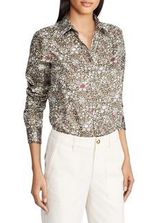 Lauren Ralph Lauren Floral Cotton Sateen Shirt