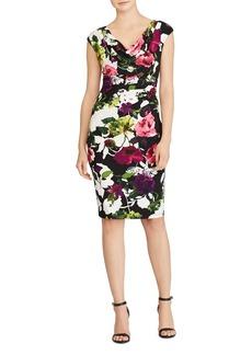 Lauren Ralph Lauren Floral Cowl Neck Dress