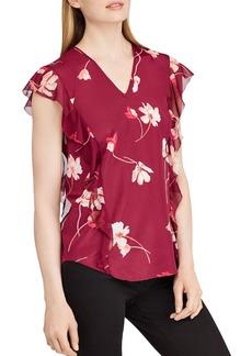 Lauren Ralph Lauren Floral Crepe Top