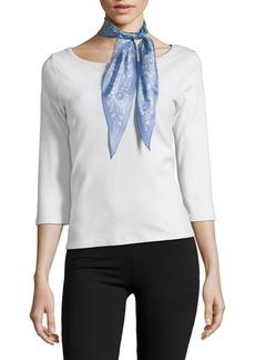 Lauren Ralph Lauren Floral Diamond-Shape Silk Scarf