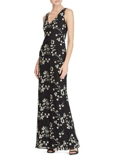 Lauren Ralph Lauren Floral Embroidered Mesh Gown