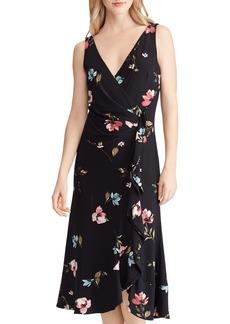 Lauren Ralph Lauren Floral Faux-Wrap Dress