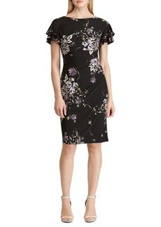Lauren Ralph Lauren Floral Flutter-Sleeve Sheath Dress