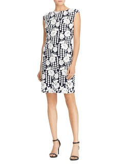 Lauren Ralph Lauren Floral Geometric-Lace Dress