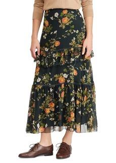 Lauren Ralph Lauren Floral Georgette Maxi Skirt