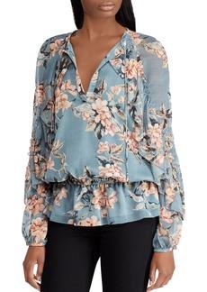 Lauren Ralph Lauren Floral Georgette Top