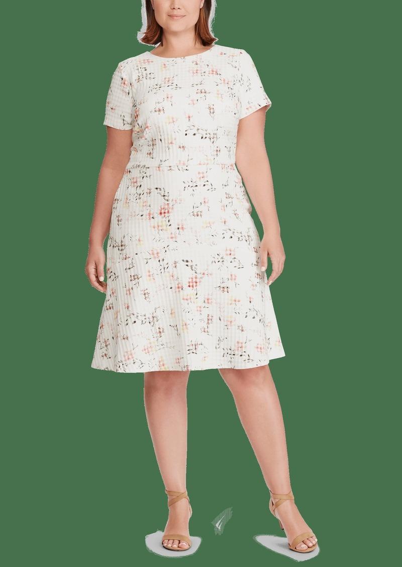 Lauren Ralph Lauren Floral Jacquard Dress Size 18