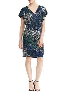 Lauren Ralph Lauren Floral Jersey Flutter-Sleeve Dress