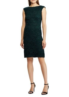 Lauren Ralph Lauren Floral Lace Cap-Sleeve Dress