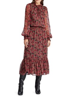 Lauren Ralph Lauren Floral Midi Blouson Dress