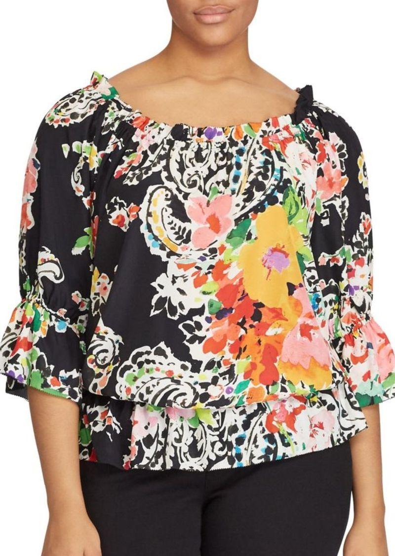 72273aa60e21b On Sale today! Ralph Lauren Lauren Ralph Lauren Plus Floral Off ...