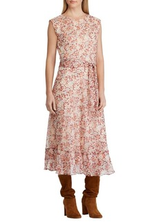 Lauren Ralph Lauren Floral-Print A-Line Georgette Dress