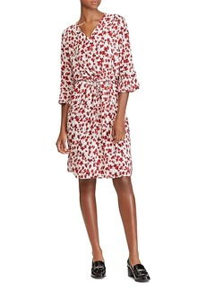 Lauren Ralph Lauren Floral Print Bell Sleeve Dress