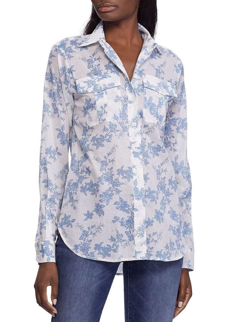 Lauren Ralph Lauren Floral-Print Button-Down Cotton Shirt