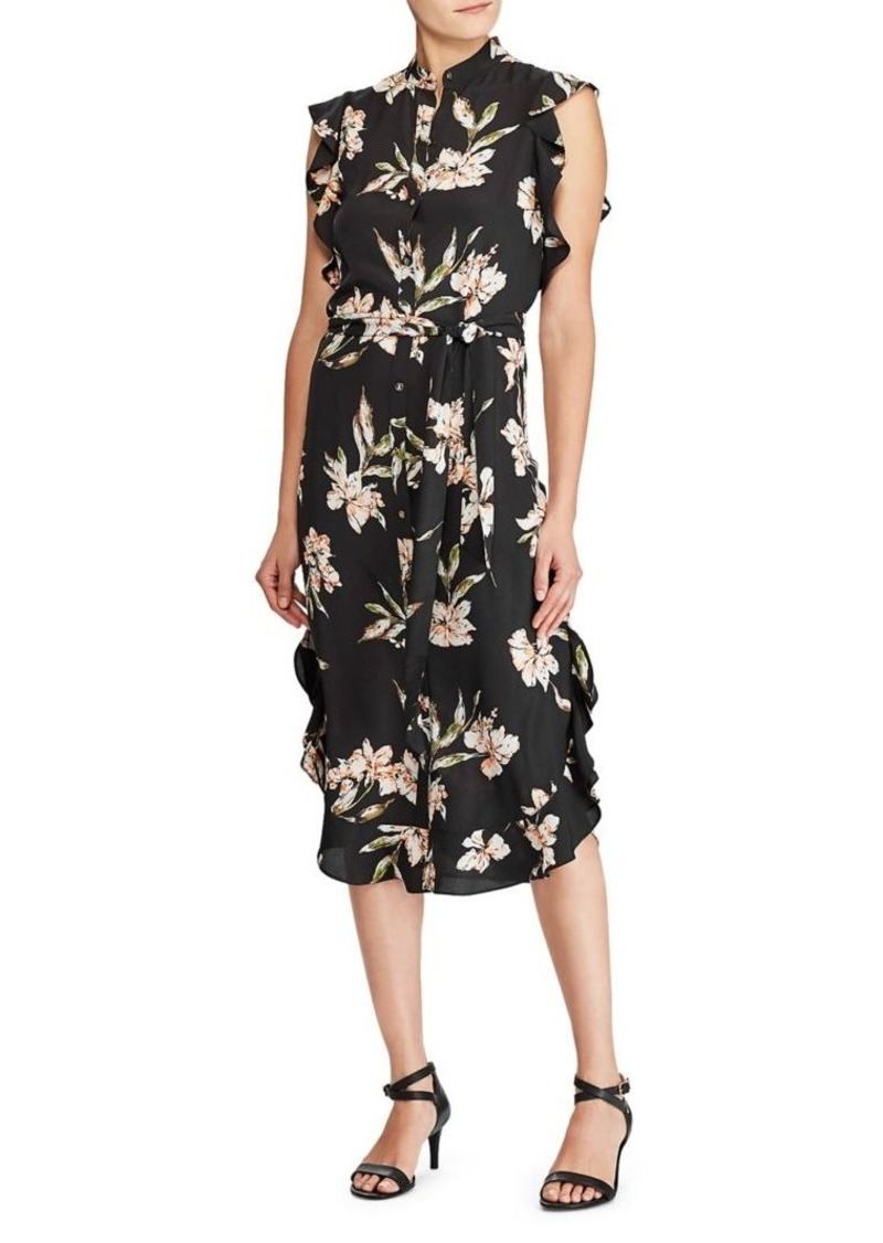Lauren Ralph Lauren Floral-Print Button-Front Dress