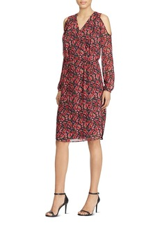 Lauren Ralph Lauren Floral Print Cold-Shoulder Dress