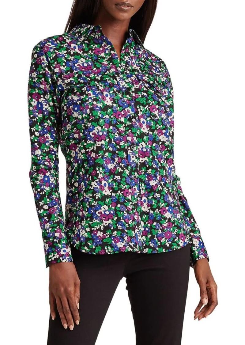 Lauren Ralph Lauren Floral-Print Cotton Shirt