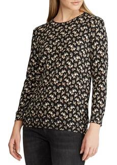 Lauren Ralph Lauren Floral-Print Cotton Sweater