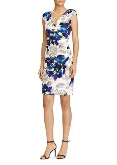 Lauren Ralph Lauren Floral Print Faux Wrap Dress