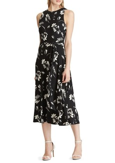 Lauren Ralph Lauren Floral-Print Fit-&-Flare Midi Dress