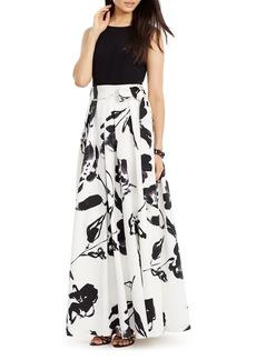 Lauren Ralph Lauren Floral Print Gown