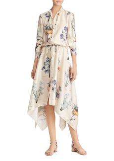 Lauren Ralph Lauren Floral-Print Handkerchief-Hem Shirt Dress