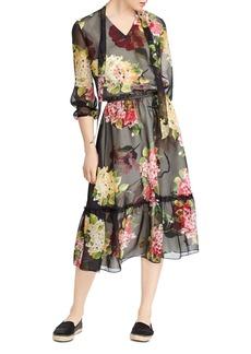 Lauren Ralph Lauren Floral Print Midi Dress