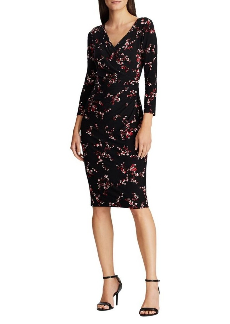 Lauren Ralph Lauren Floral-Print Pleated Dress